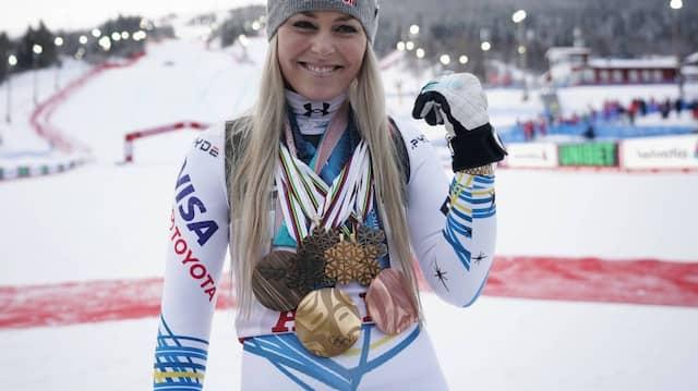 Lindsey Vonn, Medaillensammlerin von 2007 bis 2019