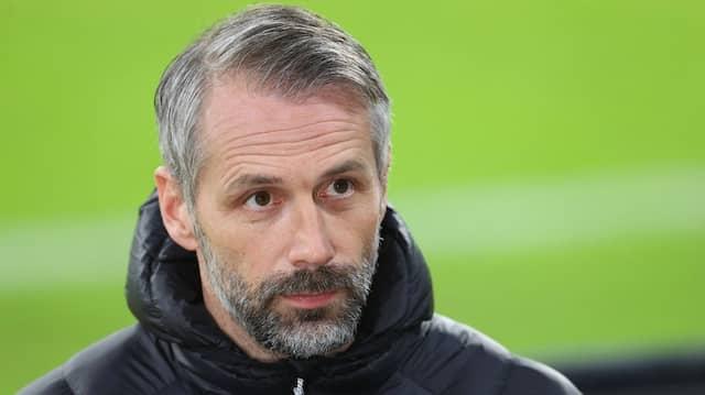 Angespannte Situation: Im Pokal-Viertelfinale trifft Gladbachs Trainer Marco Rose auf seinen künftigen Verein.