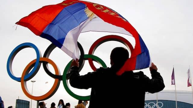 Wann die russische Fahne wieder bei Olympia weht, ist unklar.