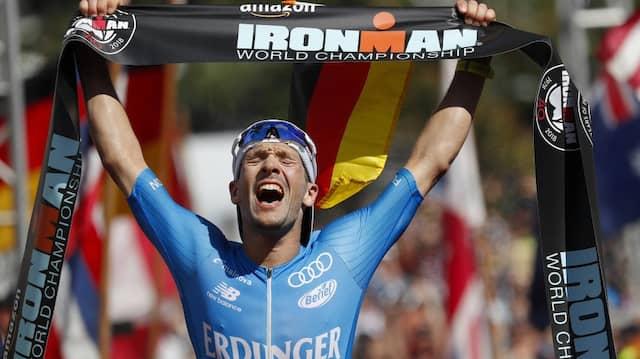In diesem Jahr ohne Siegchance auf Hawaii: die deutschen Triathleten um Patrick Lange, hier beim Triumph 2018