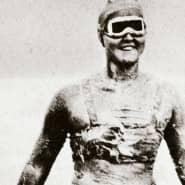 Gertrud Ederle im von ihr erfundenen Bikini – eine Sensation für die damalige Zeit
