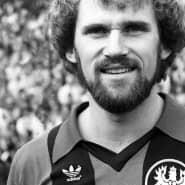 """Nur 41 Pflichtspiele für die Eintracht, aber als """"Schädel-Harry"""" dank des Uefa-Pokalsiegs  eine Legende: Harald Karger ist noch heute in Erinnerung wegen seiner wichtigen Tore."""