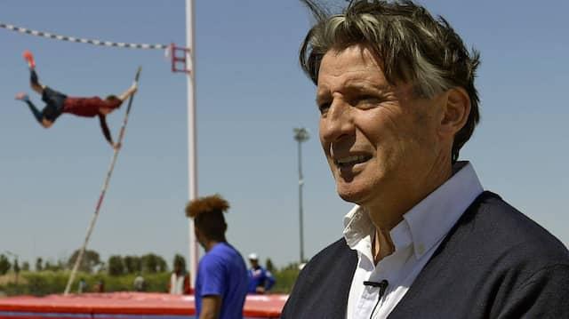 Leichtathletik-Präsident Sebastian Coe bei den Olympischen Jugendspielen in Buenos Aires