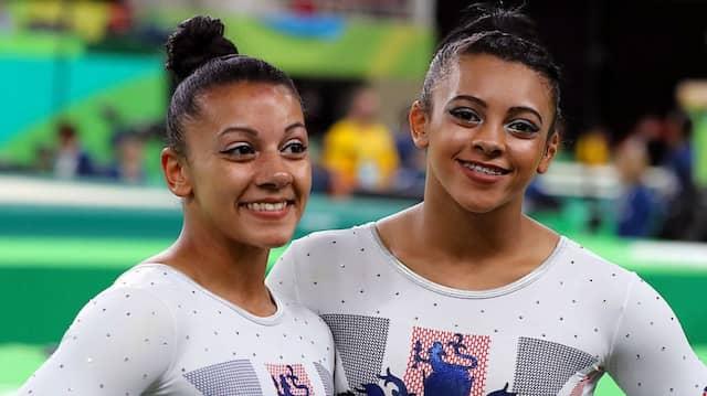 Vorwürfe im Turnen: Becky (links) und Ellie Downie