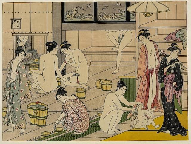Im Badehaus: Szene einer Zeremonie im 18. Jahrhundert.