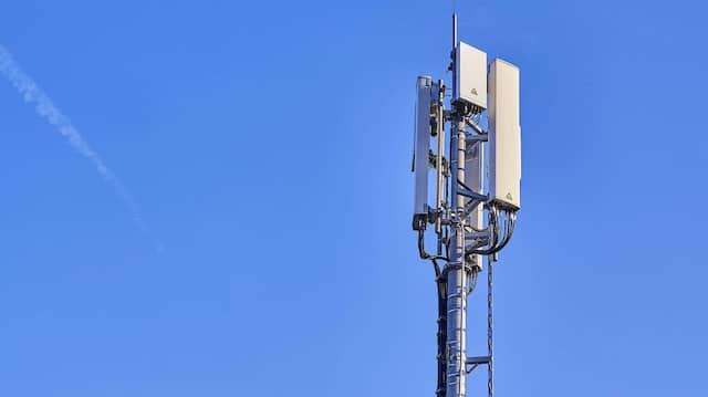 Ein 5G-Mobilfunkmast von Vodafone