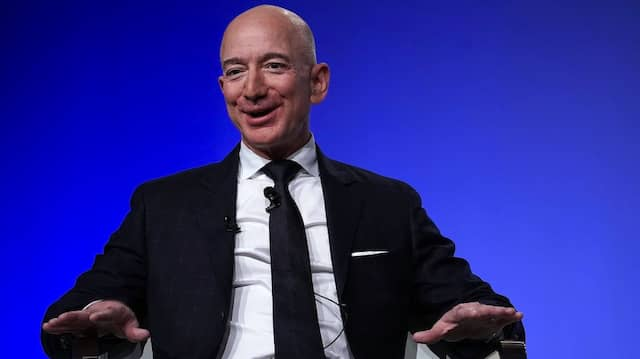 Hat gut Lachen: Amazon-Chef Jeff Bezos