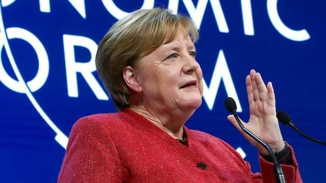 Angela Merkel auf dem Weltwirtschaftsforum in Davos.