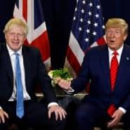 Der britische Premier Boris Johnson und der amerikanische Präsident Donald Trump am Rande der UN-Generalversammlung im September 2019