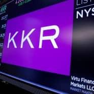 KKR auf der Kurstafel der New Yorker Börse