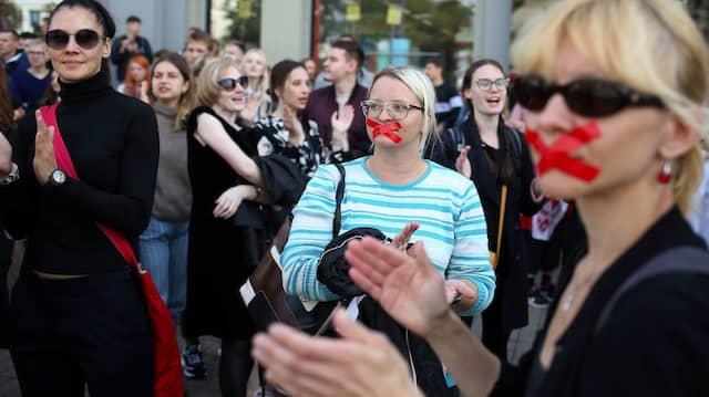 Studierendenproteste im Herbst 2020 in Minsk.