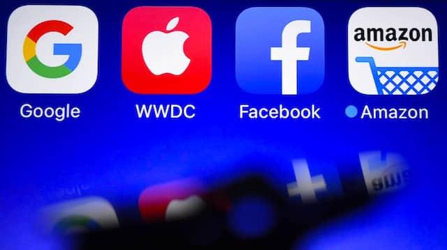 Google, Apple, Facebook, Amazon: Zusammen mit Microsoft sind sie die Konzerne, an denen im Internet niemand vorbeikommt.