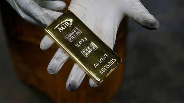 Derzeit rund 50.000 Euro wert: Goldbarren der African Gold Refinery aus Uganda.