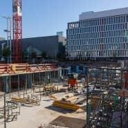 Einer der Motoren der Konjukturerholung ist das Baugewerbe – so wie hier auf der Baustelle des F.A.Z.-Neubaus in Frankfurt.