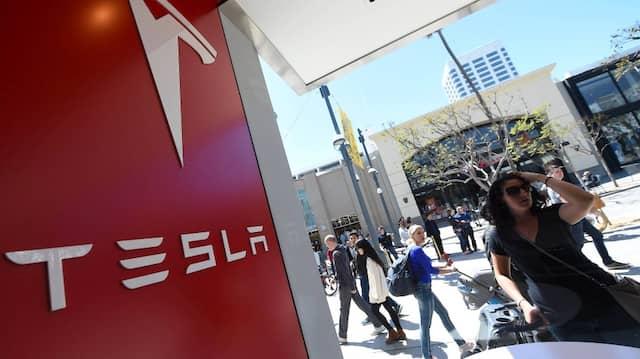 Noch ohne Vin: Ein Tesla-Geschäft in Santa Monica, Kalifornien