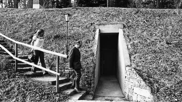 Der Eingang zum Versuchsbunker