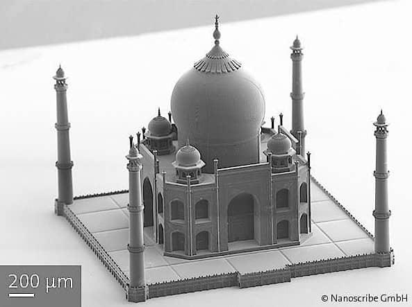 Bauwerke aus dem 3D-Drucker Knapp einen Millimeter misst diese gedruckte Miniversion des Taj Mahal