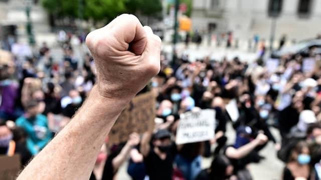 Antirassistischen Proteste in New York: Auch viele Weiße waren unter den Demonstranten.