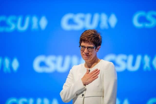 Der Auftritt der CDU-Vorsitzenden Annegret Kramp-Karrenbauer war am Ende für Söder eine Erlösung.
