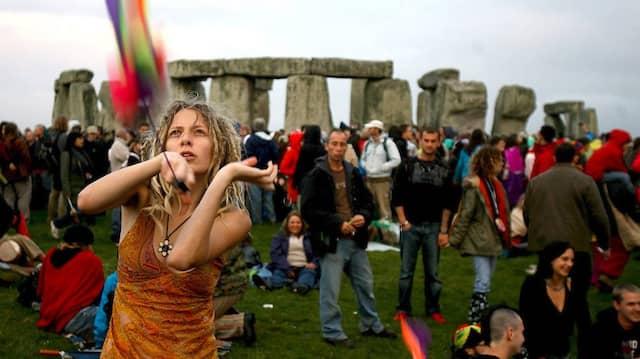 Sonnenwende-Feier im britischen Stonehenge
