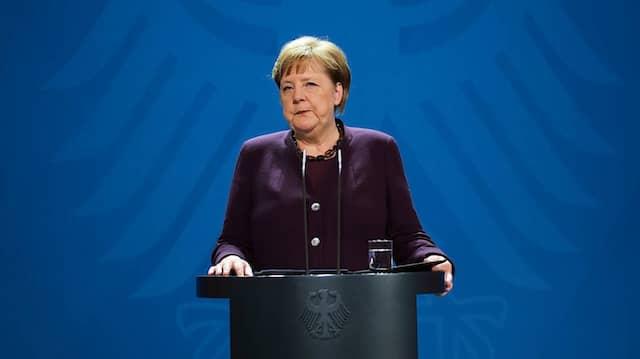 Bundeskanzlerin Angela Merkel: Statement über Corona-Ausbruch