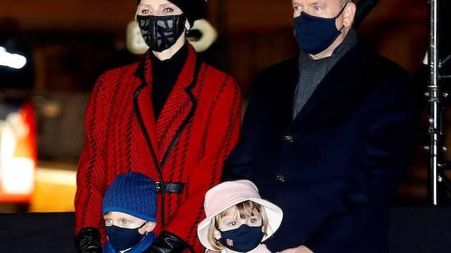 Schön schick: Charlène, Albert und die Kinder