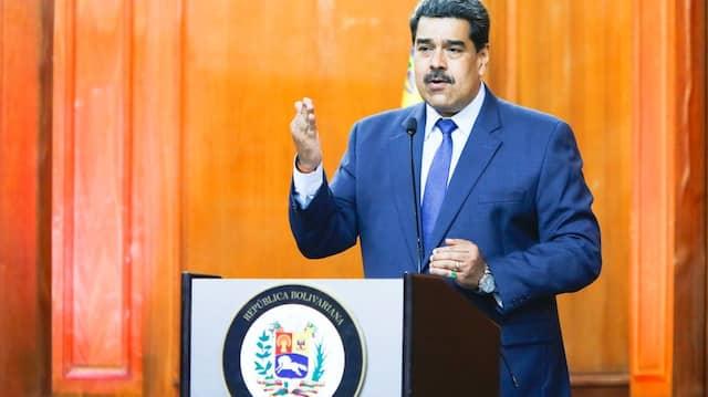 Venezuelas Präsident Nicolas Maduro spricht vergangenen Montag in Caracas.