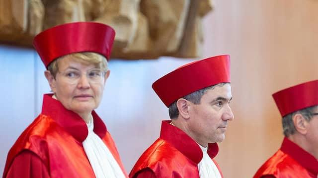 Die Verfassungsrichter Susanne Baer und Stephan Harbarth am 15. Januar 2019 in Karlsruhe