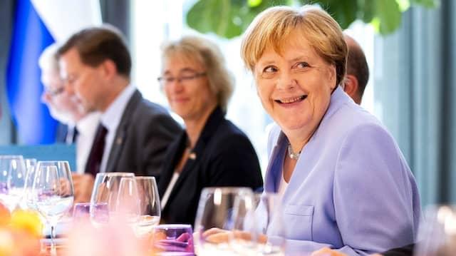 Bundeskanzlerin Angela Merkel am Donnerstag in Den Haag