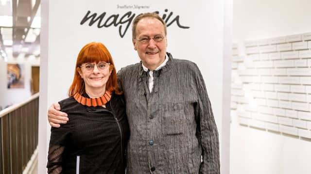 Michael Erlhoff zusammen mit seiner Lebenspartnerin Uta Brandes im Januar 2020 beim F.A.Z.-Designempfang in Köln.