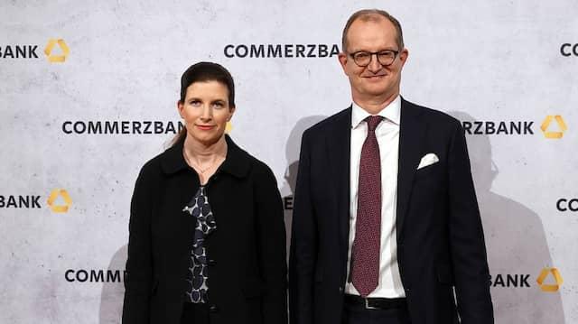 Commerzbank-Finanzvorstand Bettina Orlopp und der bisherige Vorstandschef Martin Zielke