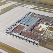 Der Berliner Flughafen BER in Schönefeld (Brandenburg).