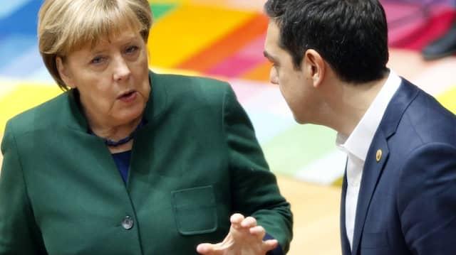 Wieder bessere Gesprächspartner: Angela Merkel im März mit Tsipras in Brüssel