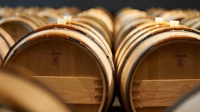 Das Ende des Prozesses: Der Wein reift in Barriquefässern