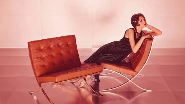 Stuhl und Couch Barcelona von Ludwig Mies van der Rohe mit Lilly Reich