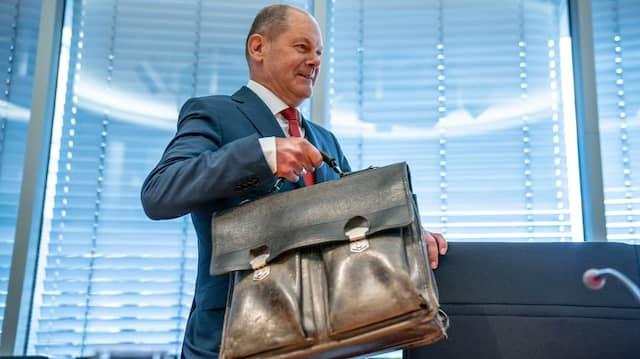 Finanzminister Olaf Scholz im Juli 2020 in einer Sitzung des Finanzausschusses des Bundestages zum Wirecard-Skandal.