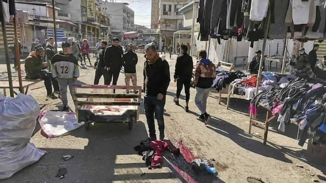 Der Markt in Bagdad, an dem es am 21. Januar zwei Selbstmordanschläge gab