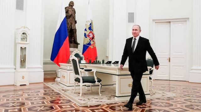 """""""In der EU herrscht Zusammenbruch"""": Präsident Putin am Mittwoch im Kreml"""