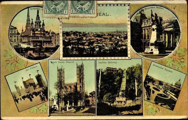 Auch in Montreal steht Notre-Dame, als Hauptsehenswürdigkeit und Postkartenmotiv