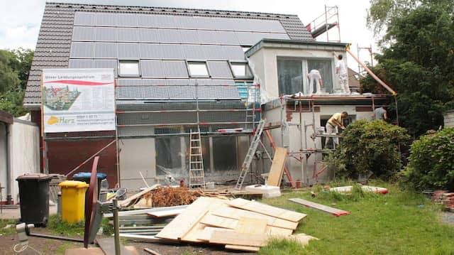 Energetische, inzwischen längst abgeschlossene Sanierung eines Einfamilienhauses in Bottrop