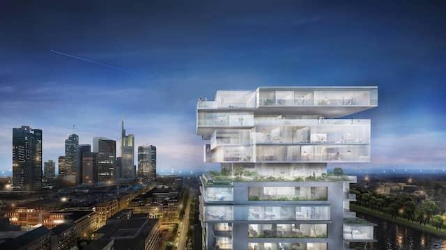 Nicht nur die Höhe zählt: Ole Scheeren setzt in seinem Entwurf für den Riverpark Tower auch horizontale Akzente.