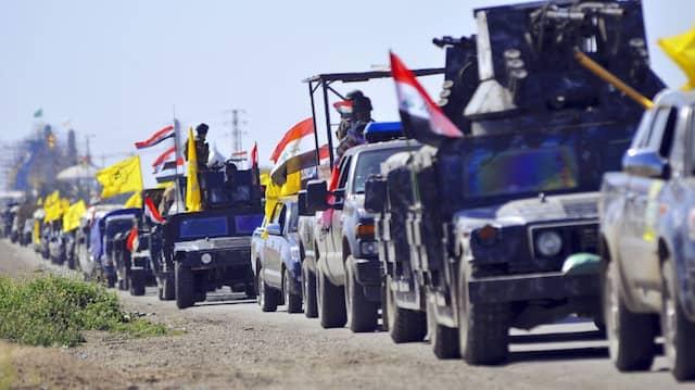 Irakische Truppen am Samstag auf dem Weg nach Takrit