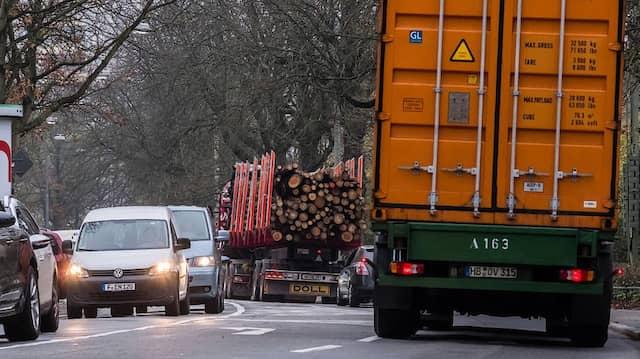 """Besonders hohe Werte wurden in der Frankfurter Straße """"Am Erlenbruch"""" gemessen"""