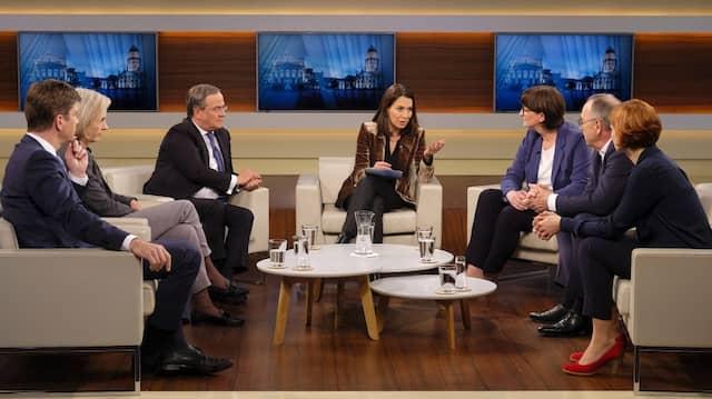 """Anne Will diskutiert in ihrer Sendung am 1.12.2019 über die Frage: """"Die SPD wählt linke Spitze – zerbricht jetzt die GroKo?"""""""