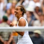 Hat gut lachen: Barbora Strycova nach ihrem Sieg gegen Johanna Konta im Wimbledon-Viertelfinale