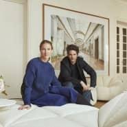 Sichten alter Entwürfe: Benjamin Paulin mit seiner Frau Alice Lemoine