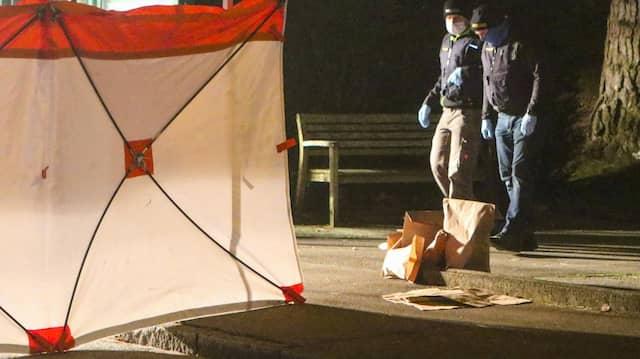 In der Nähe einer Haltestelle: Tatort in Augsburg