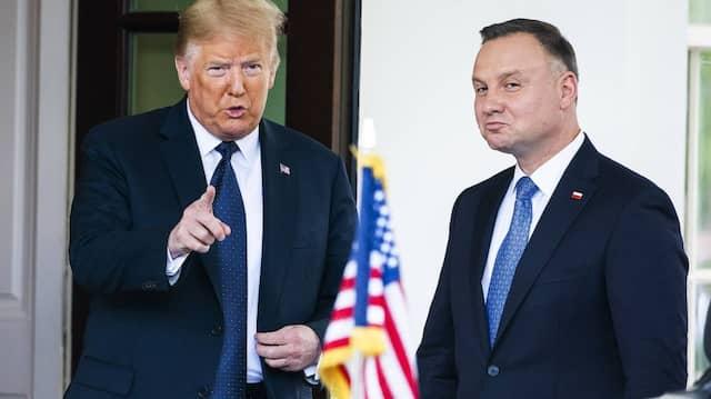 Donald Trump bei einem Auftritt mit Polens Präsident Andrzej Duda am 25. Juni im Weißen Haus.