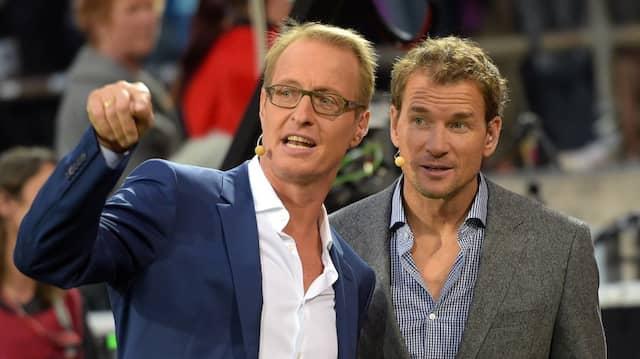 RTL-Moderator Florian König (l.) und Ex-Nationalspieler Jens Lehmann