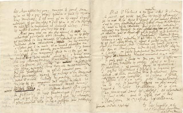 Verfasst auf Europareise: Gottfried Wilhelm Leibniz, sechs eigenhändige Briefe, verfasst zwischen 1689 und 1695, Schätzung 120.000 Euro.